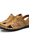 Bărbați Pantofi Piele Vară Confortabili Sandale Negru / Galben / Maro