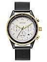 BAOGELA Bărbați Quartz Ceas La Modă Ceas Sport Ceas Casual Chineză Cronometru Zone Triple De Timp Aliaj Bandă Casual Modă Negru