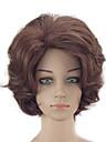 Syntetiska peruker Kinky Curly Frisyr i lager Naturlig hårlinje Densitet Utan lock Dam Brun Naturlig peruk Korta Syntetiskt hår