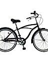 Cruiser Cyklar Cykelsport 1 hastighet 26 Inch Cykel Sidodragande broms Icke-dämpning Vanlig PVC PVC/Vinyl Stålslang Aluminum Alloy