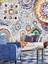 Tryck Konst Dekor 3D Hem-dekoration Vintage Moderna Tapetsering, Duk Material lim behövs Väggmålning, Tapet