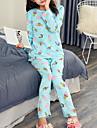 Pentru femei Guler Cămașă Costume Pijamale Geometric
