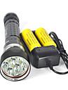 LED-Ficklampor / Dykficklampor / Ficklampor LED 8000lm 4.0 Belysning läge Professionell / Anti-Stöt / Vattentät Camping / Vandring /