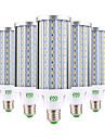 YWXLIGHT® 6pcs 60W 5500-6000 lm E26/E27 Becuri LED Corn T 160 led-uri SMD 5730 Decorativ Alb Cald Alb Rece Alb Natural AC 85-265V