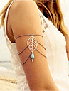 Turcoaz Arm lanț Leaf Shape, Picătură Vintage, European Pentru femei Argintiu Bijuterii de corp Pentru Ieșire / Bikini