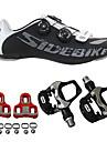 SIDEBIKE Homme Chaussures de Velo de Route / Chaussures de Cyclisme avec Pedale & Fixation Gomme Cyclisme / Velo Coussin, Ultra leger (UL)