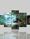 rullade canvastryck klassiska moderna, fem paneler kanvas horisontellt tryck väggdekoration hem dekoration