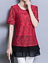 Pentru femei Tricou De Bază Șic Stradă-Floral Dantelă