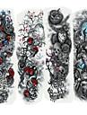 4 pcs Tatoveringsklistremerker midlertidige Tatoveringer Tegneserie-serien kropps~~POS=TRUNC arm