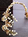 Křišťál / Napodobenina perel / Slitina Vlasové ozdoby s Umělé perly / Křišťál / imitace drahokamu 1ks Svatební / Narozeniny Přílba