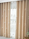 Sheer Curtains Shades Bedroom Floral Cotton / Polyester Printed