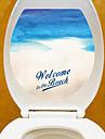 Muurtattoo Decoratieve Muurstickers Toiletstickers - Vliegtuig Muurstickers Landschap 3D Verstelbaar Verwijderbaar