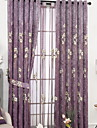 Sheer Curtains Shades Bedroom Contemporary Cotton / Polyester Embroidery