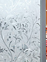 Floral Floral Mat, PVC a vinyl Material fereastra de decorare Living Camera de baie Shop / Cafenea