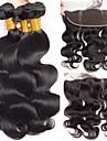 Cheveux Peruviens Ondule Extensions Naturelles / Trame cheveux avec fermeture 3 paquets avec fermeture 8-22pouce Tissages de cheveux