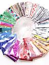 50 pcs Yapay Nail İpuçları Çıkartmalar tırnak sanatı Manikür pedikür Yaygın / profesyonel Seviye Taşınabilir / Nail Decals Günlük / Randevu