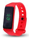 Heren Dames Digitaal horloge Digitaal Silicone Zwart / Wit / Blauw Chronograaf LCD Vrijetijdshorloge Digitaal Modieus Elegant - Rood Groen Blauw / tachymeter