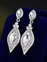 Dámské Visací náušnice Náušnice Jednoduchý Evropský Módní Šperky Stříbrná Pro Svatební Denní