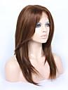 Obehandlad hår Hel-spets Spetsfront Peruk Brasilianskt hår Rak Frisyr i lager 130% 150% Densitet Med Babyhår limfria Afro-amerikansk