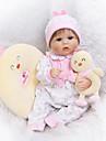 NPKCOLLECTION NPK DOLL Reborn-dukker 16 inch Silikone - Nyfødt livagtige Nuttet Børnesikker Ikke Giftig Hånd Anvendte -jenvipper Børne Drenge / Pige Legetøj Gave