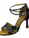 Femme Chaussures Latines / Chaussures de Salsa Paillette Brillante / Similicuir Sandale / Talon Utilisation / Professionnel Boucle / Ruban