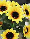 Konstgjorda blommor 7 Gren Stilig / Rustik Solrosor korg med blommor