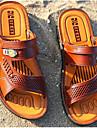 Bărbați Pantofi Piele PVC Primăvară Confortabili Sandale Negru / Galben