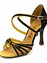 Pentru femei Pantofi Dans Latin / Sală Dans Satin Sandale Cataramă Personalizabili Pantofi de dans Galben / Fucsia / Violet / Piele de Căprioară