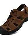 Bărbați Pantofi Piele Vară Confortabili Sandale Verde Militar / Maro Deschis / Maro Închis