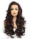 Синтетические кружевные передние парики Кудрявый Minaj Стиль Средняя часть Лента спереди Парик Вино Темно-рыжий Искусственные волосы Жен. 100% волосы канекалона Вино Парик Длинные StrongBeauty / Да