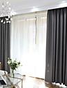 Mörkläggning Gardiner draperier Sovrum Enfärgad Polyesterblandning Färgat garn