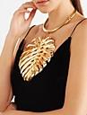 Pentru femei Coliere cu Pieptar Coliere - Leaf Shape, Botanic Design Unic, European, Supradimensionat Auriu, Negru, Argintiu 37+13.5 cm Coliere 1 buc Pentru Ceremonie, Carnaval