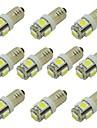 10pcs E10 Automatique Ampoules electriques 2W SMD 5050 85lm 5 LED Eclairage interieur For Universel / General Motors General Motors