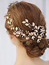 Alloy Hair Combs with Pearl / Crystals / Rhinestones 1 Piece Wedding / Special Occasion Headpiece