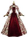 Βικτωριανής Εποχής / Rococo Costume Pentru femei / Adulți Rochii Roșu Vintage Cosplay Bureți naturali Lungime Manșon 3/4 Sleeve Flare