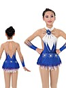 Rhythmic Gymnastics Leotards / Artistic Gymnastics Leotards Women\'s / Girls\' Leotard Sky Blue High Elasticity Competition Handmade Print / Shading Long Sleeve Rhythmic Gymnastics / Artistic Gymnastics