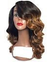 Cabello Natural Remy Spitzenfront Peruecke Stufenhaarschnitt Rihanna Stil Brasilianisches Haar Wellen Rotbraun Peruecke 130% Haardichte mit Babyhaar Gefaerbte Haarspitzen (Ombré Hair) Dunkler Haaransatz