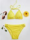 Pentru femei Bikini - Dantelă, Mată Halter Tanga Τρίγωνο