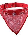 Chiens Lapins Chats Colliers aboiement Etanche Portable Mini Geometrique Cuir PU / Cuir polyurethane Rouge Bleu Rose