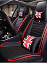 ODEER Car Seat Cushions Seat Covers Black / Red Artificial Leather Common for universal All years All Models
