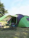 Hewolf 6 شخص خيمة كبيرة خيمة التخييم العائلية في الهواء الطلق ضد الهواء مكتشف الأمطار UPF50+ طبقات مزدوجة قطب الماسورة خيمة التخييم ثلاث غرف >3000 mm إلى Camping / Hiking / Caving قماش اكسفورد
