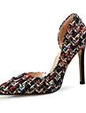 Femme Chaussures Tricot Printemps ete Escarpin Basique Chaussures a Talons Talon Aiguille Bout pointu Noir / Beige / Soiree & Evenement