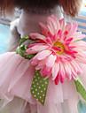 Chiens Chats Animaux de Compagnie Robe Vetements pour Chien Fleur Rose Jacquard Coton Coton Costume Pour Husky Labrador Malamute d\'Alaska Toutes les Saisons Femme Sports & Activites d\'Exterieur Robes