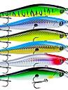 6 pcs خدع الصيد طعم صيد جامد بلاستيك الخارج الغرق طعم الاسماك إغراء الصيد الصيد العام