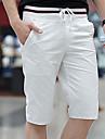 بنطلون رجالي قطن قياس كبير تشينوز / شورتات - نحيل لون سادة أساسي