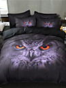 Duvet Cover Sets Cartoon Poly / Cotton / Polyster Reactive Print 3 Piece