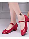 Pentru femei Sintetice Pantofi Moderni Călcâi Grosime călcâială Auriu / Argintiu / Rosu / Performanță / Antrenament
