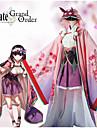 Inspirado por Destino / Grand Order Osakabehime Anime Disfraces de cosplay Trajes Cosplay Estampado Floral Blusa / Espinilleras / Para la Cabeza Para Mujer