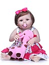 NPKCOLLECTION NPK DOLL Reborn Doll Girl Doll Baby Girl 24 inch Full Body Silicone Vinyl - Newborn Gift Artificial Implantation Blue Eyes Kid\'s Girls\' Toy Gift