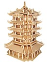 Wooden Puzzle / Logic & Puzzle Toy Scenic / Chinese Architecture School / Professional Level / Stress and Anxiety Relief Wooden 1 pcs Kid\'s / Teen All Gift